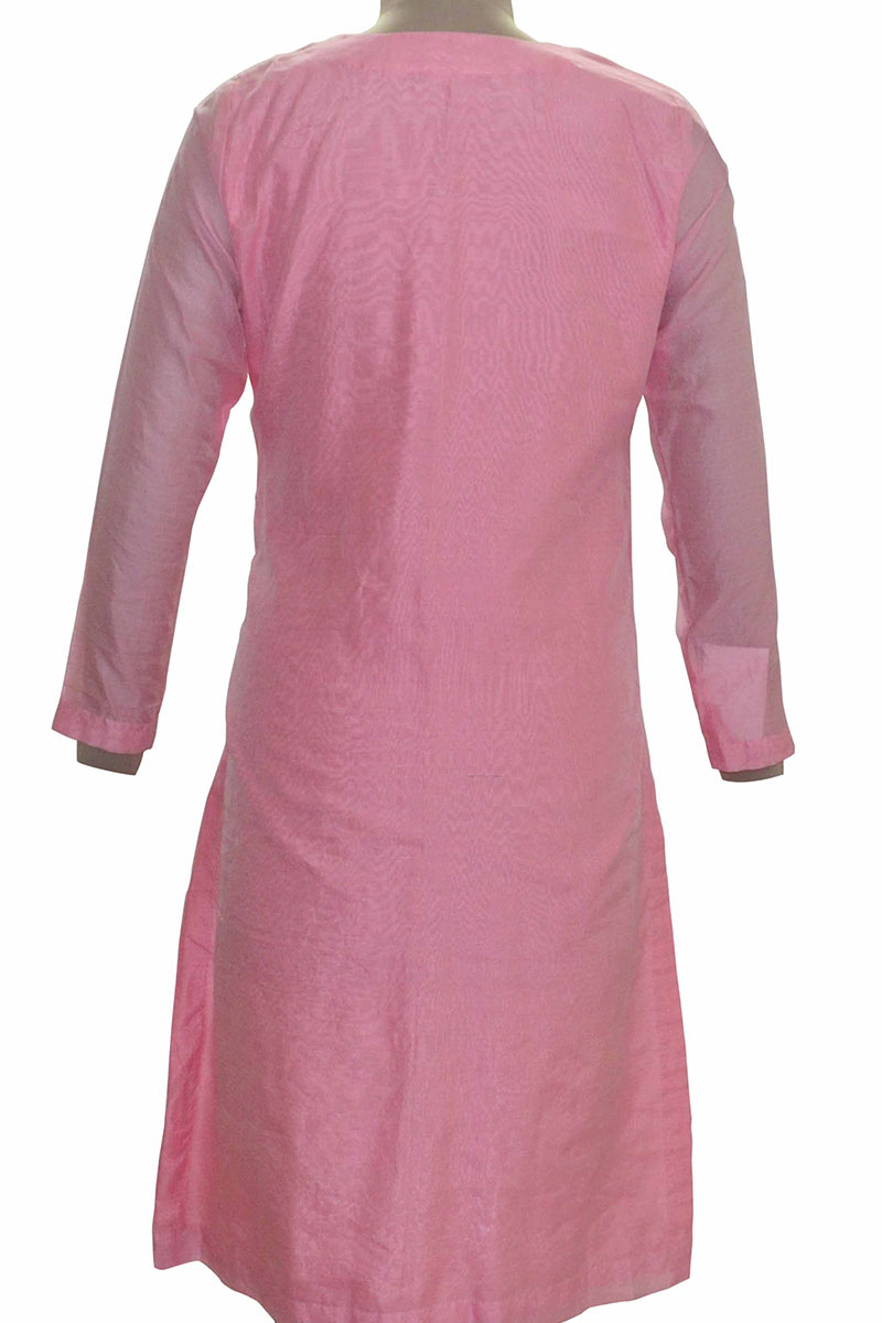 DS Pink Cotton Latest Design Kurti