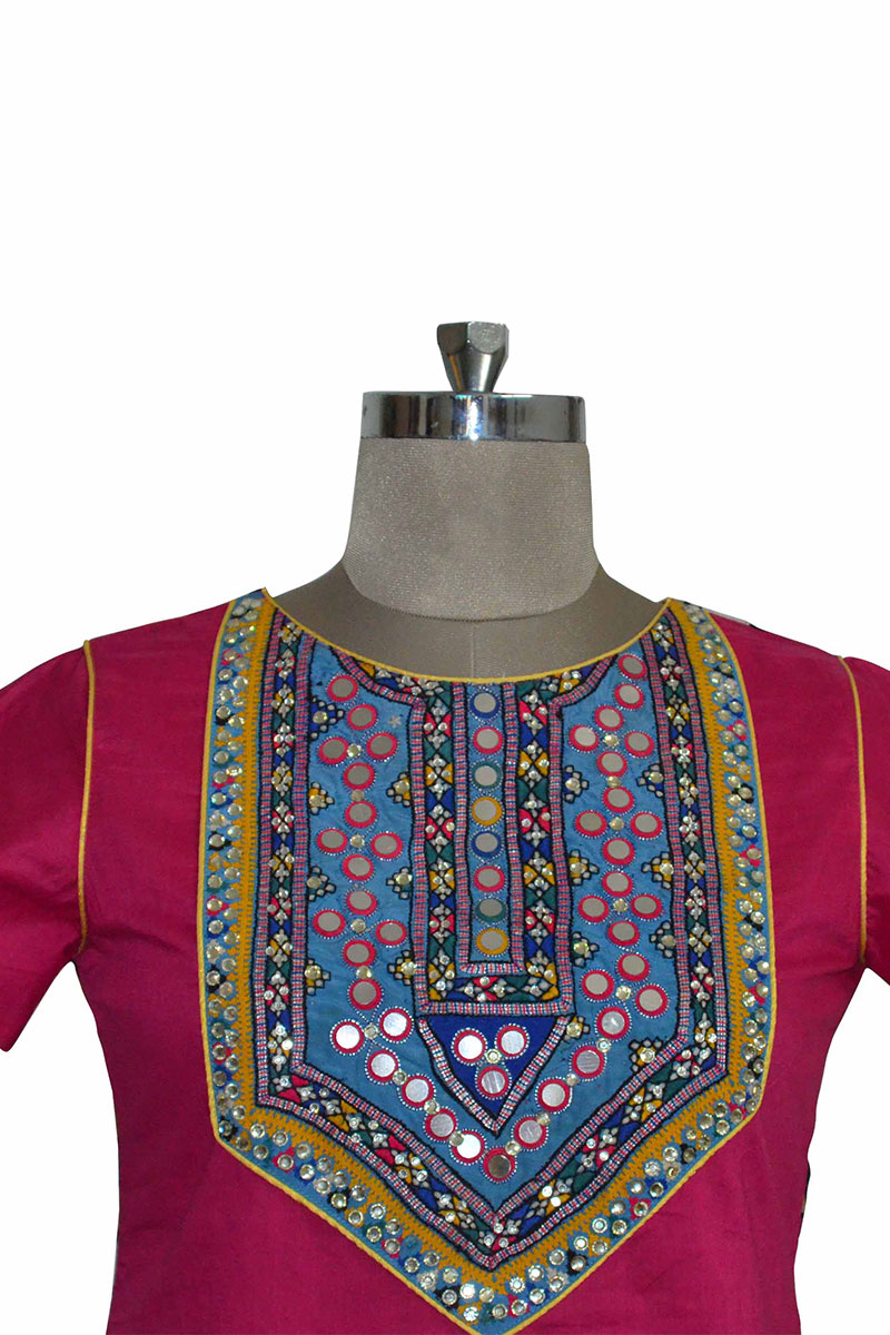 And You Pink Cotton Trendy Straight Kurti