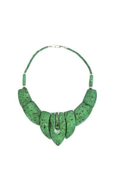 Trendy Green Stone Necklace