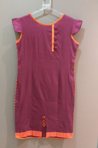 DS Pink and Orange Cotton New Collection Kurti