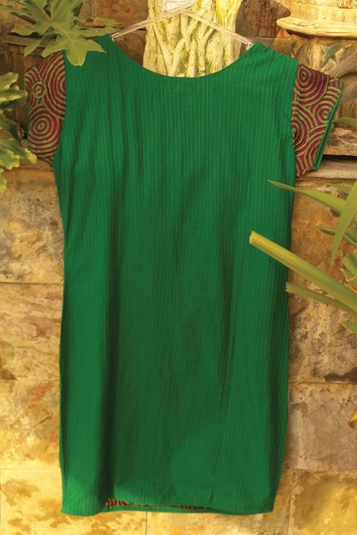 DS Green Cotton Printed Stylish Kurti