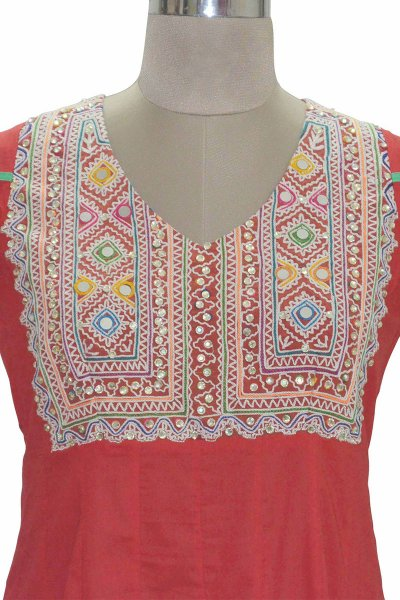 And You Red Cotton Excellent Long kurti