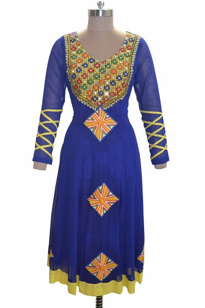 And You Blue Georgette Attractive kurti