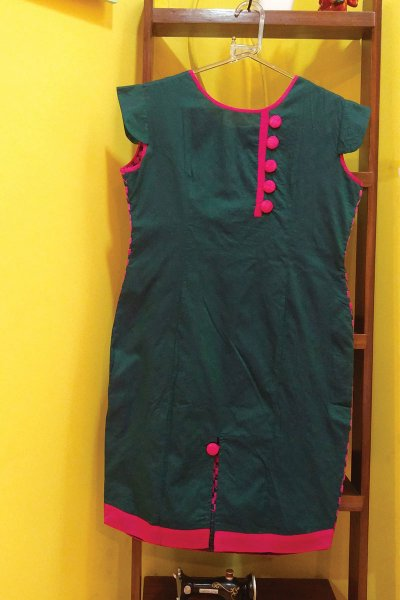 DS Green & Purple New Collection Kurti