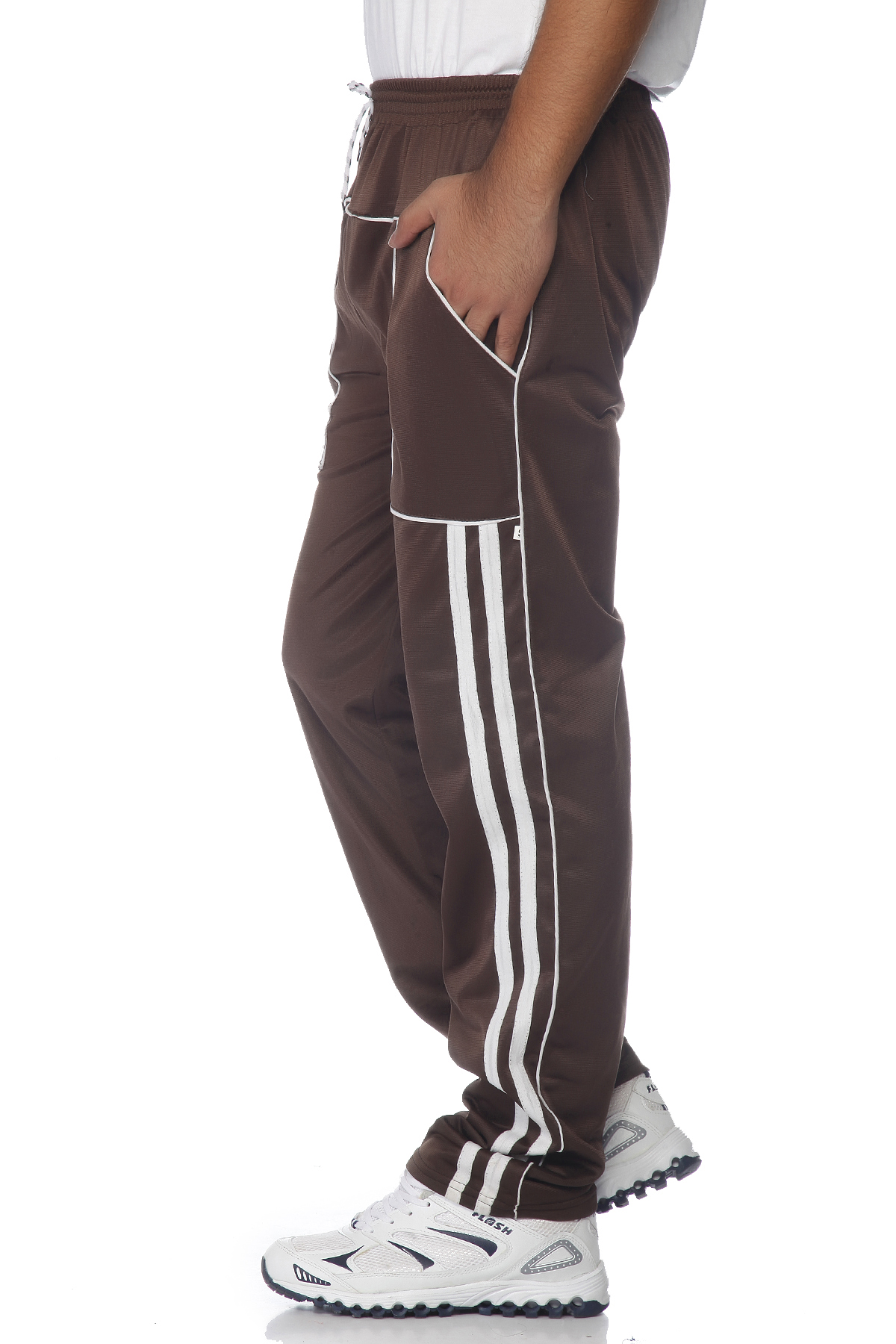 DS Brown and white Linning Running Sports Track pant