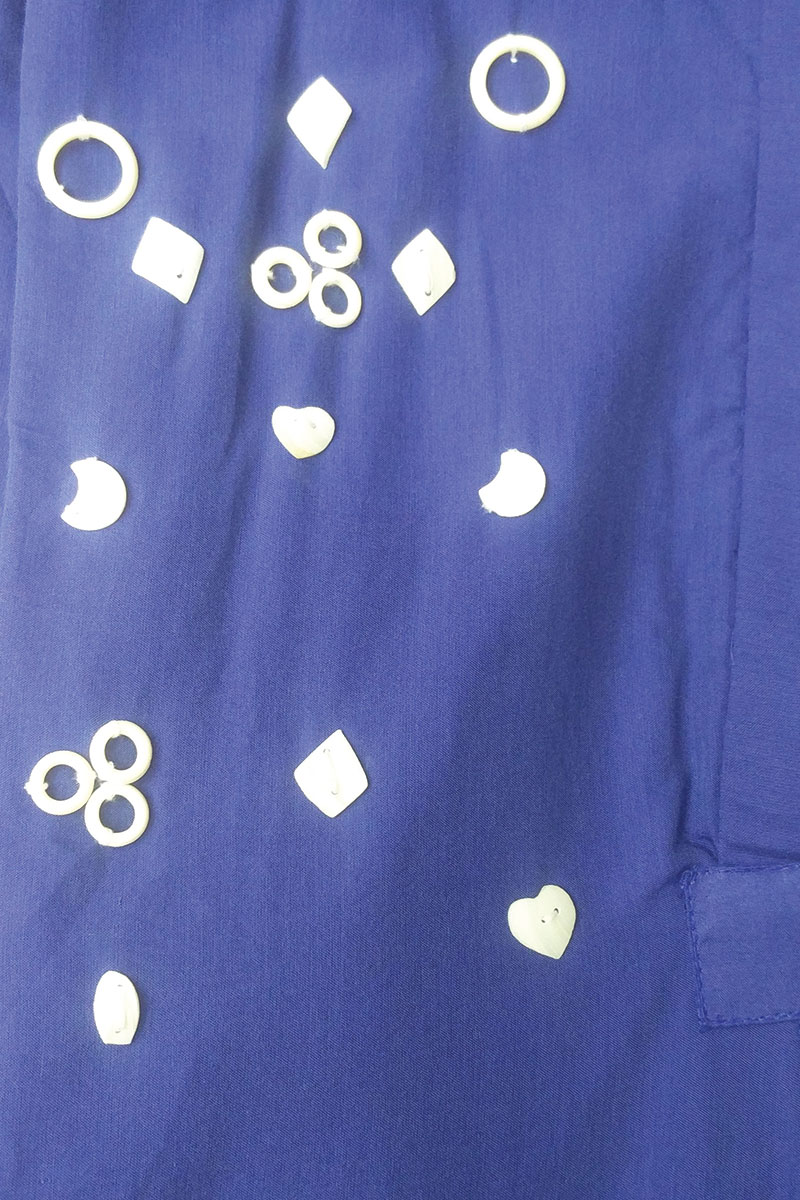 DS Blue Cotton Coller Neck Cut Sleeves Kurti