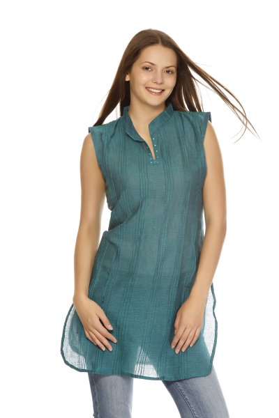 DS Green Cotton Simple and Stylish Kurti