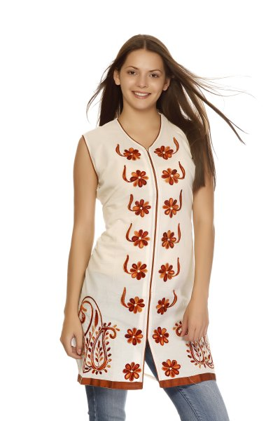 DS Beige Cotton Latest and Beautiful Kurti
