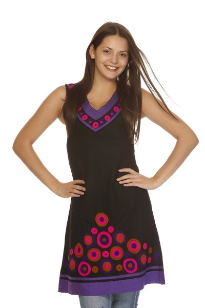 DS Black Cotton New Collection Kurti