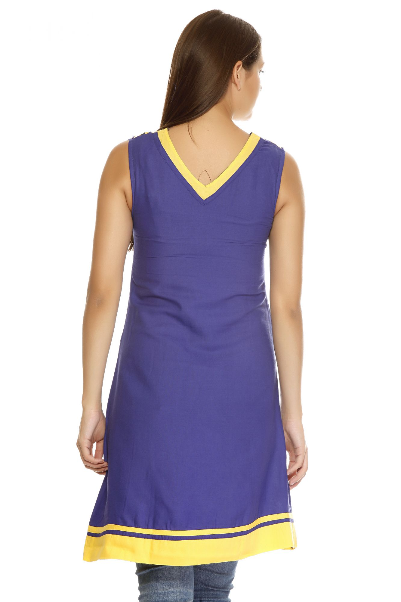 DS Purple Cotton New Collection Kurti