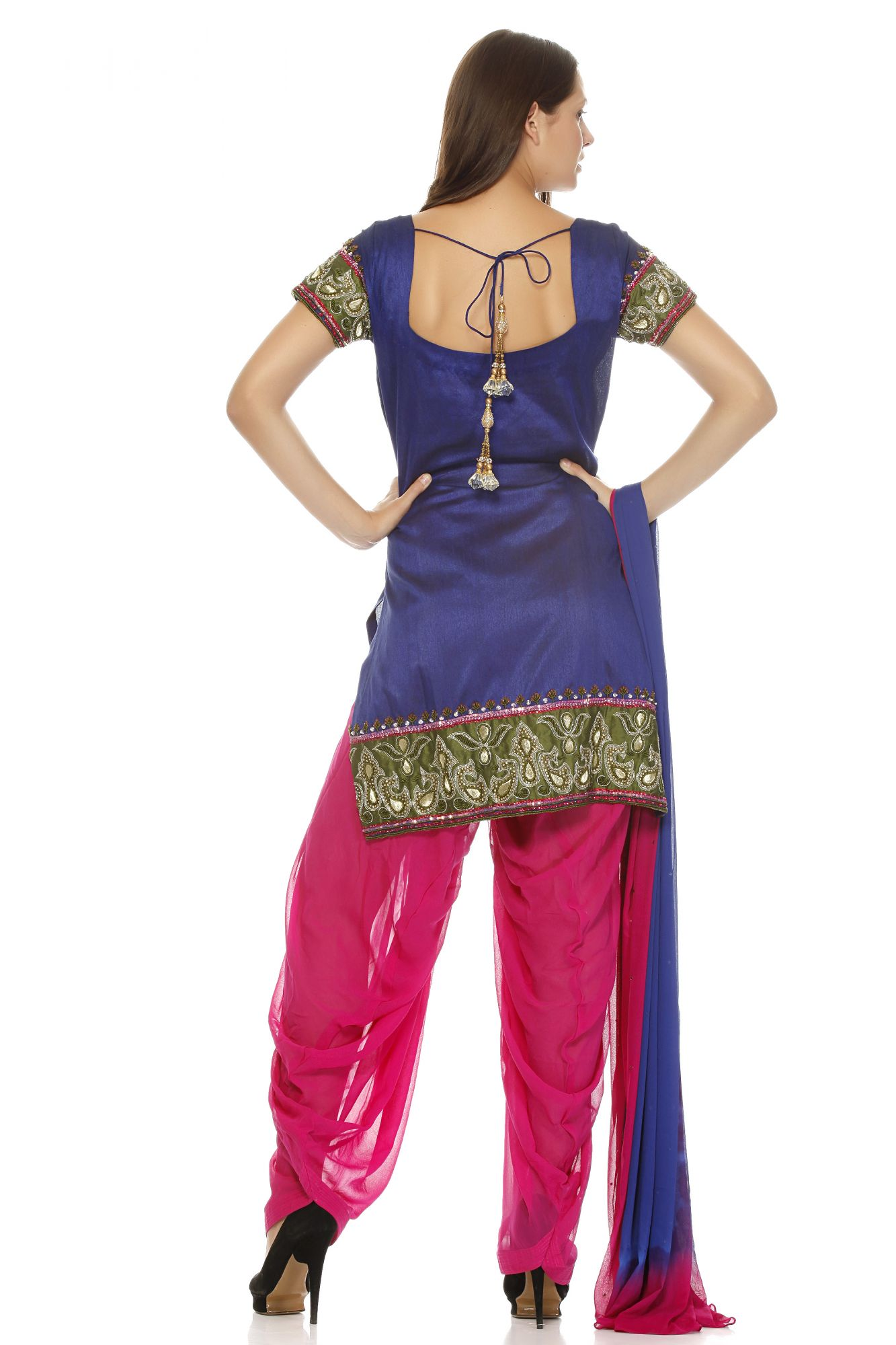 DS Blue Fashionable Regular Patiyala suit