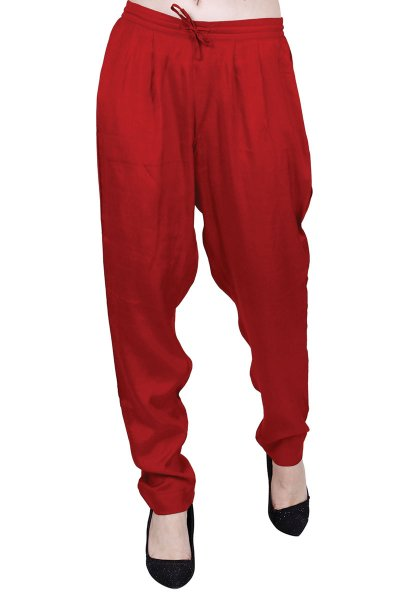DS Maroon Solid Latest Fashionable Ankle Length Pyjama