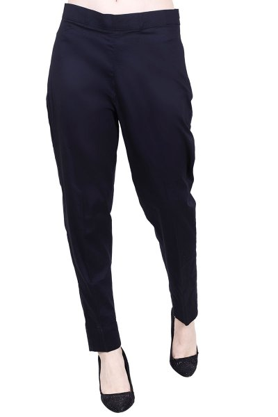 DS Solid Black Slim Fit Regular Fit Trouser