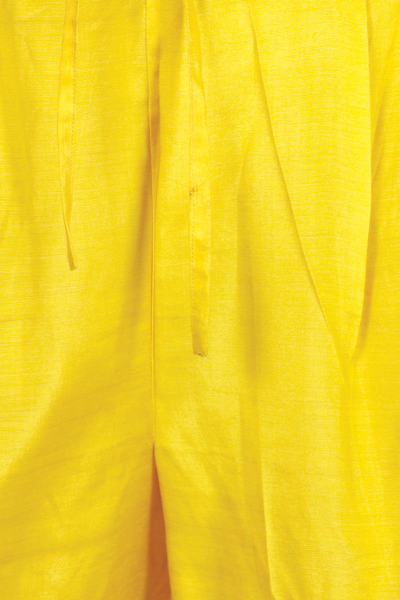 DS Yellow Solid New Stylish Ankle Length Pants