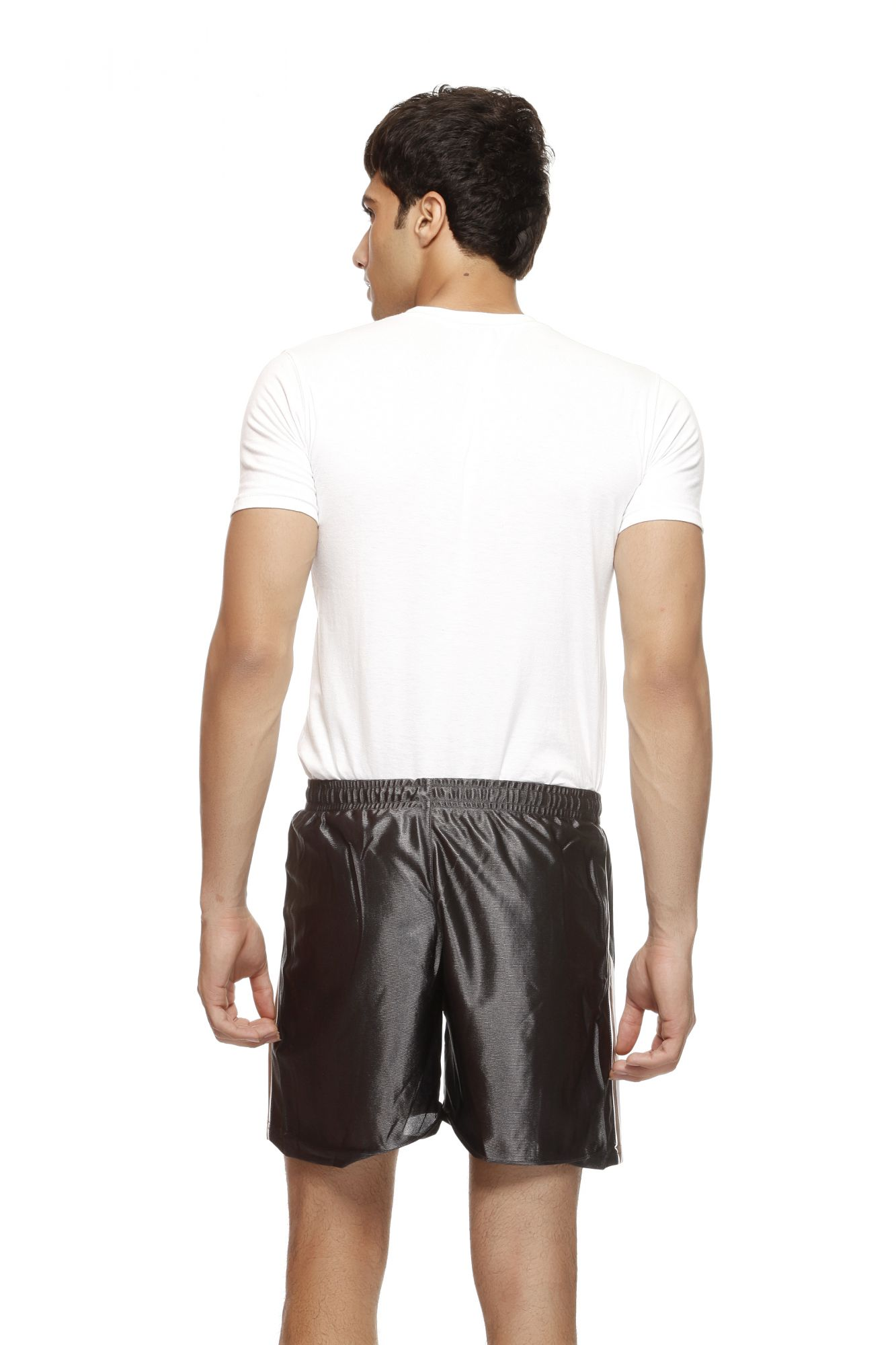 DS Grey Polyester Solid Style Shorts