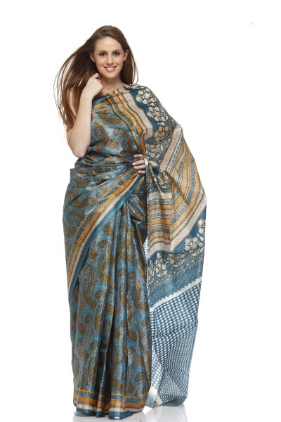 DS Multi Cotton Silk Fabric Stylish Sarees With Blouse Piece