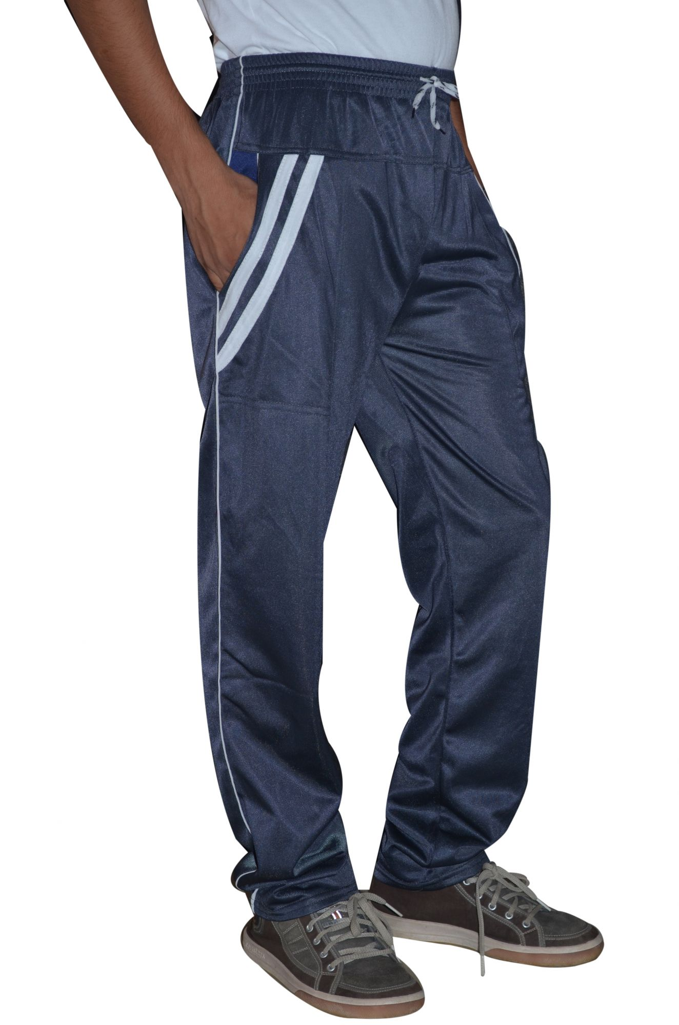 DS Navy Blue Polyester Regular Fit Trackpant