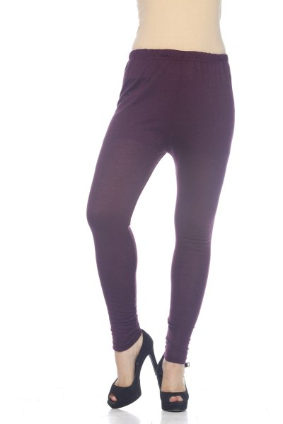 Purple Woolen Stylish Legging for Women