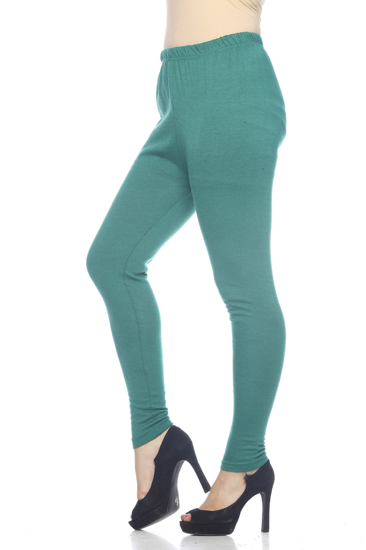 Green Attractive Woolen Legging for Women