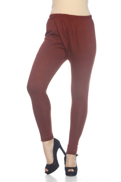 Brick Woolen Trendy Legging for Women