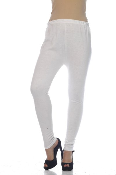 White Woolen Attractive Legging for Women
