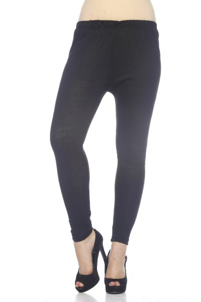 Black Woolen Fashionable Legging for Women