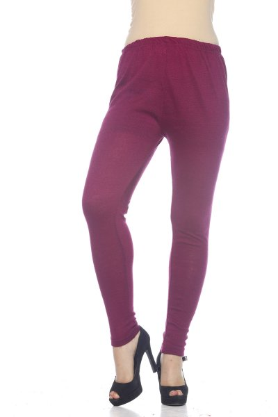 DS Purple Premium Soft Stretchable Free Size Woolen Leggings