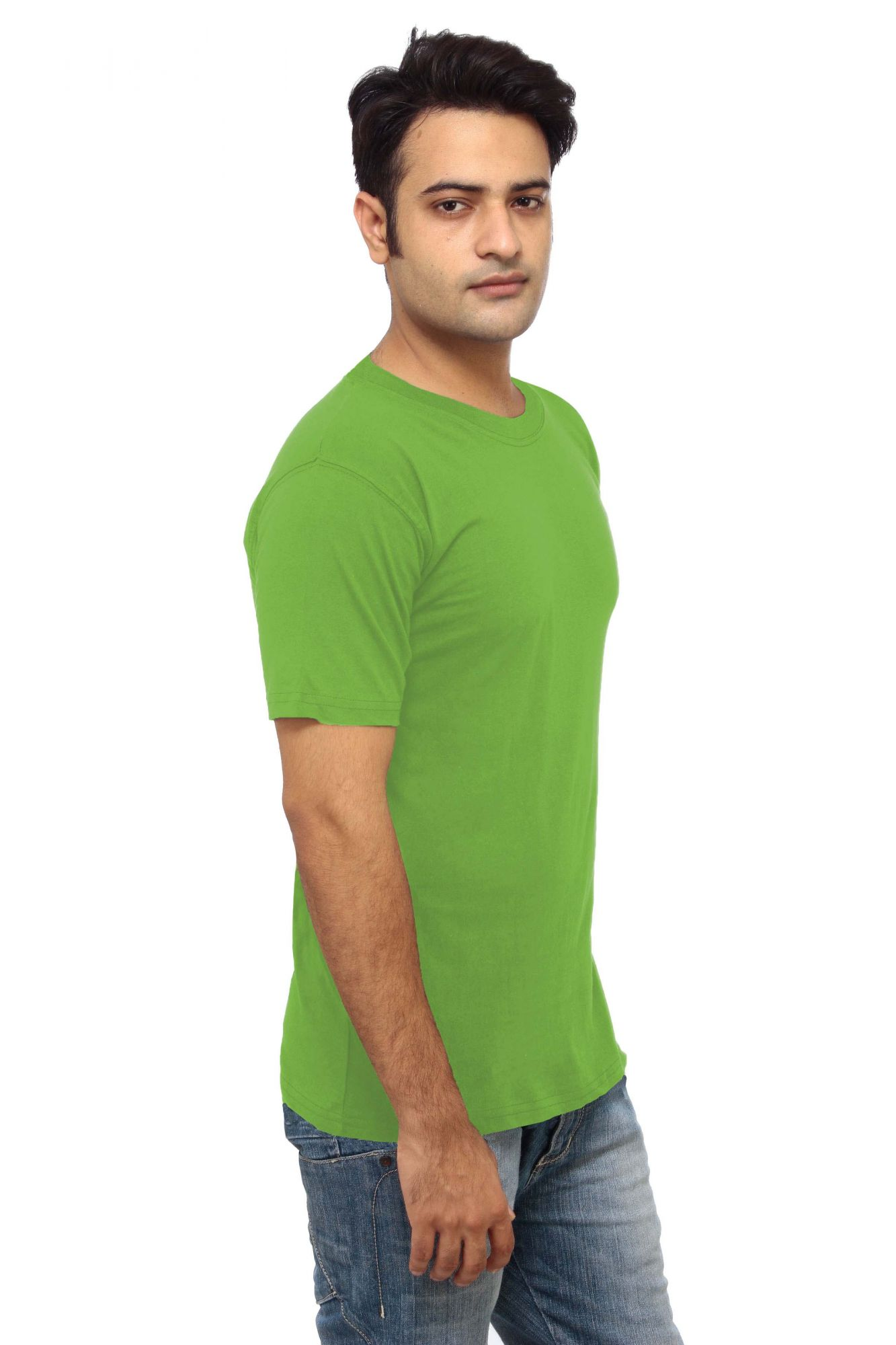 DS Green Cotton Stylish Slim Fit Round Neck T-shirt
