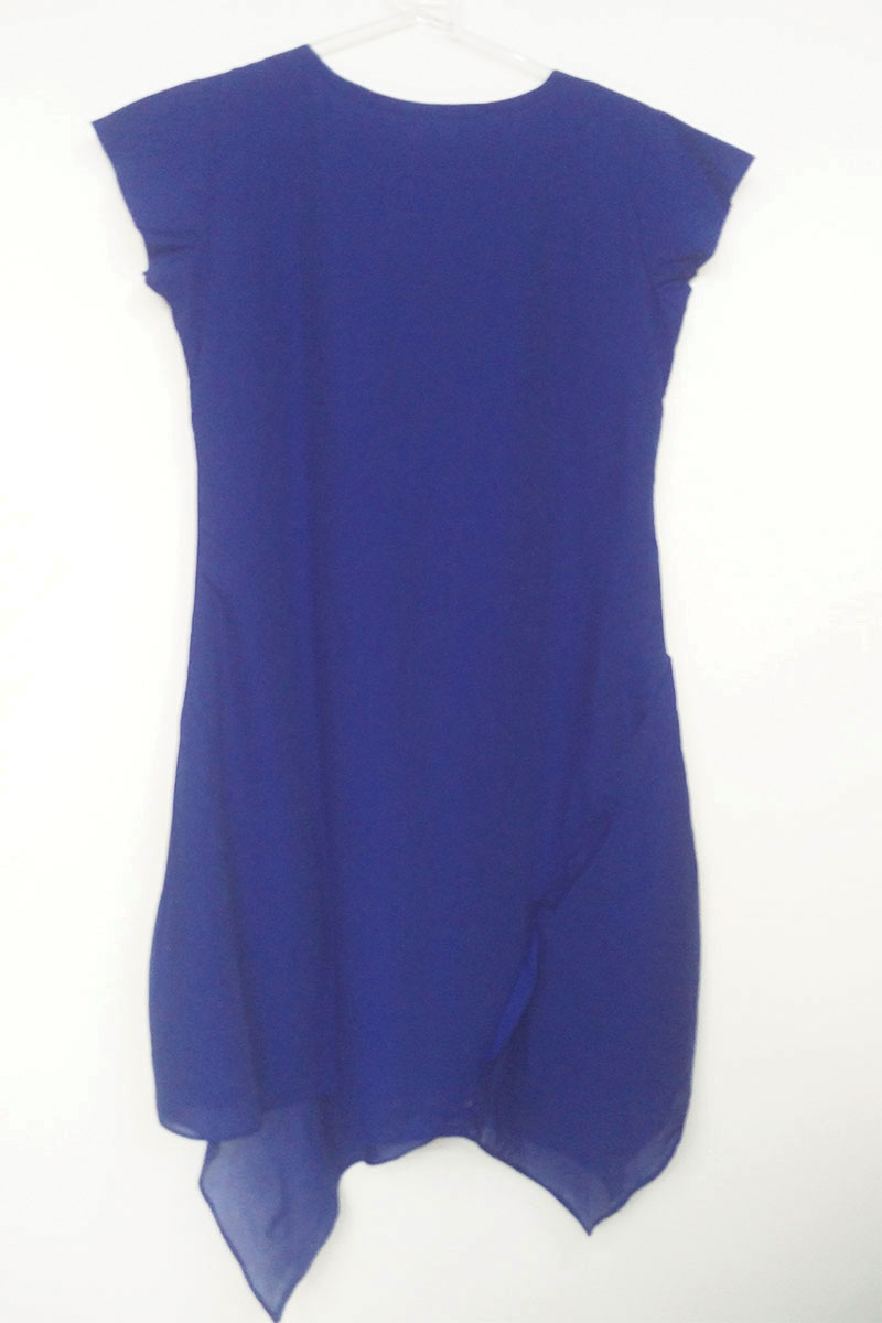 DS Blue New Modern Western Design Kurti