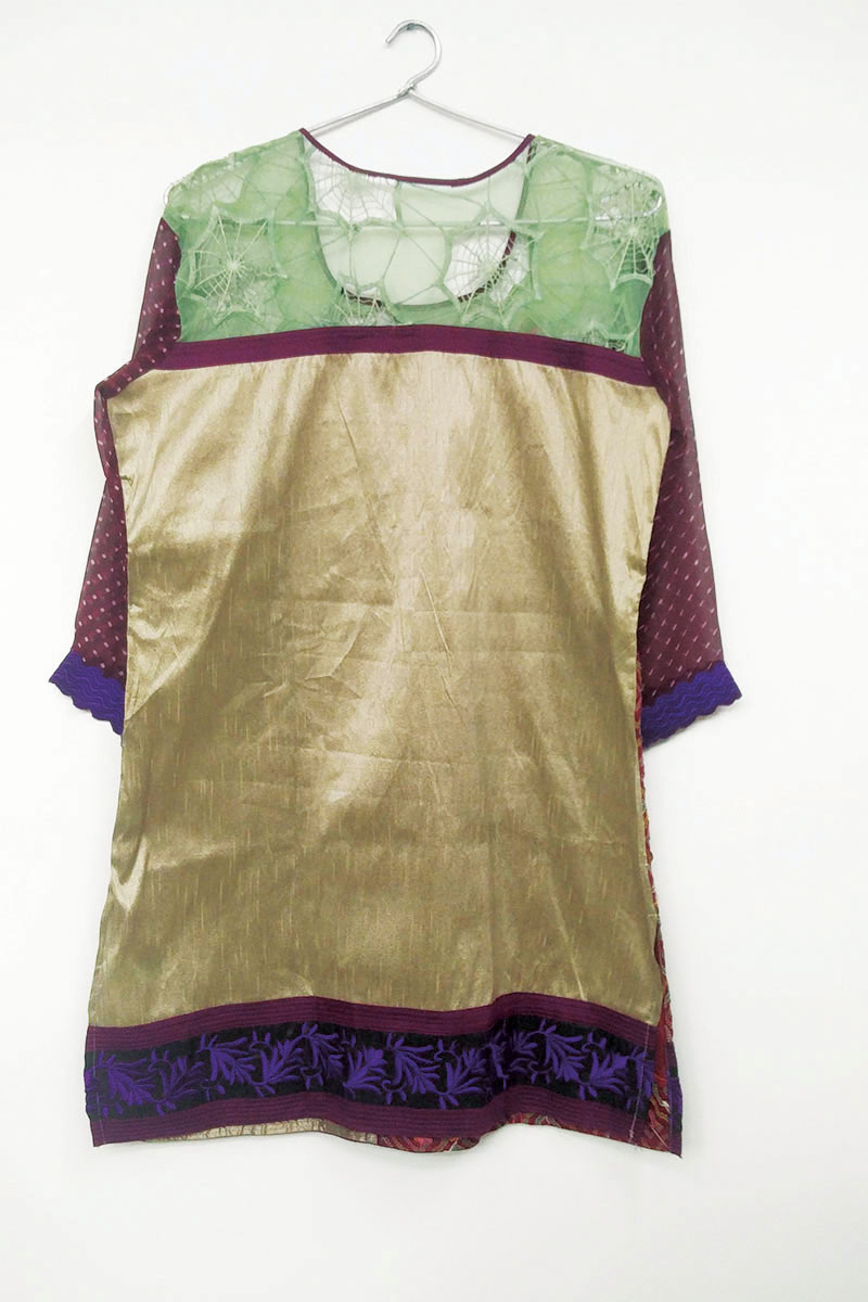 DS Maroon and Beige New Latest Design Kurti