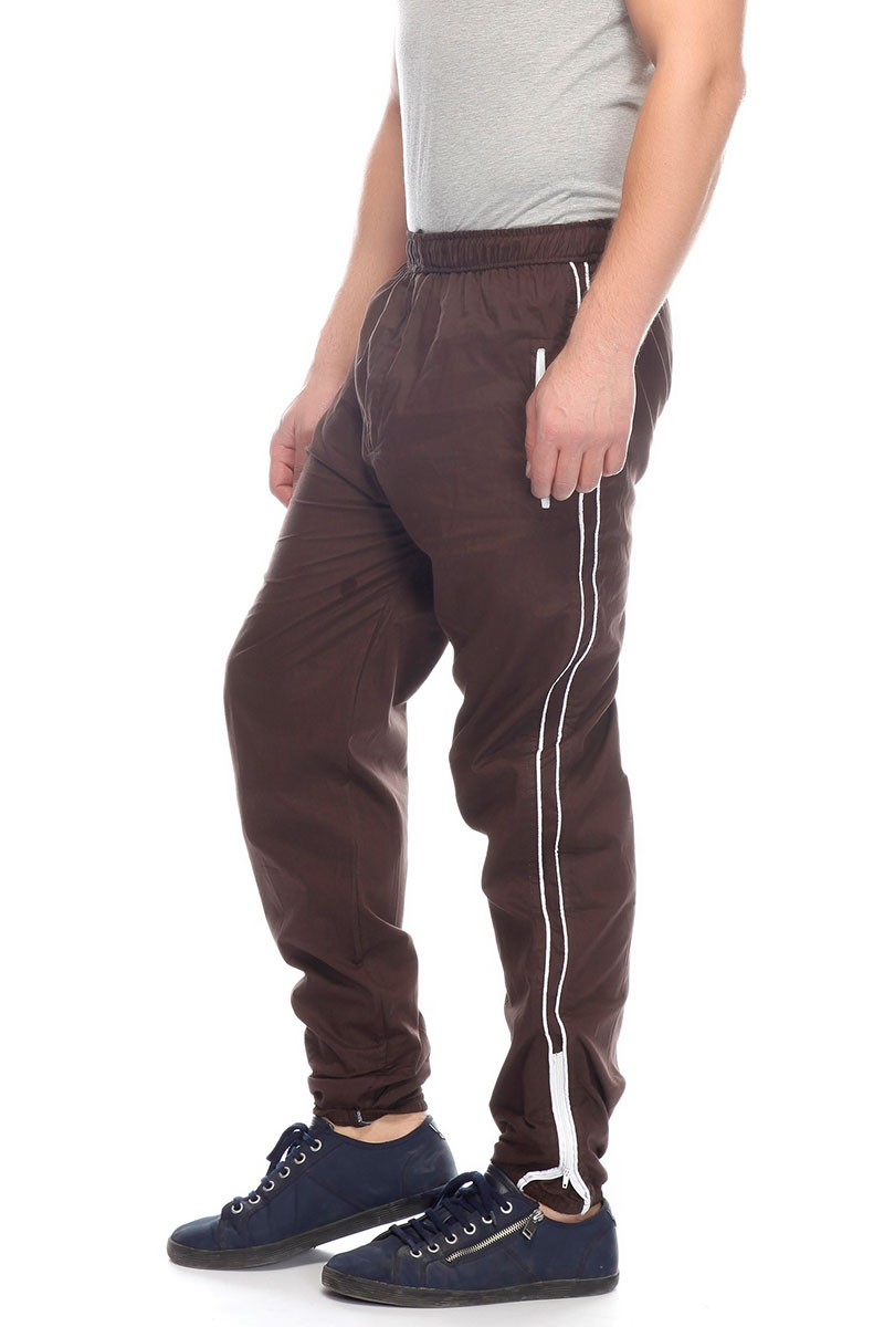 DS Solid Brown Cotton Stylish Multipurpose Use Track Pant