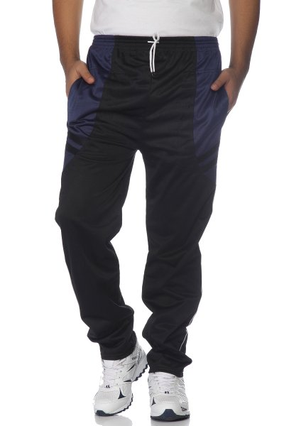 DS Blue and Black Fashionable Polyester Trackpant