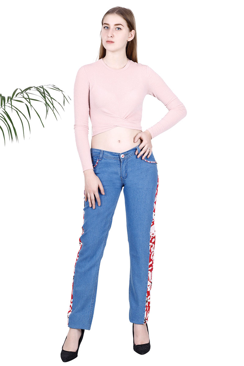 DS Light Blue Skinny Fit Mid-Rise Stretchable Jeans