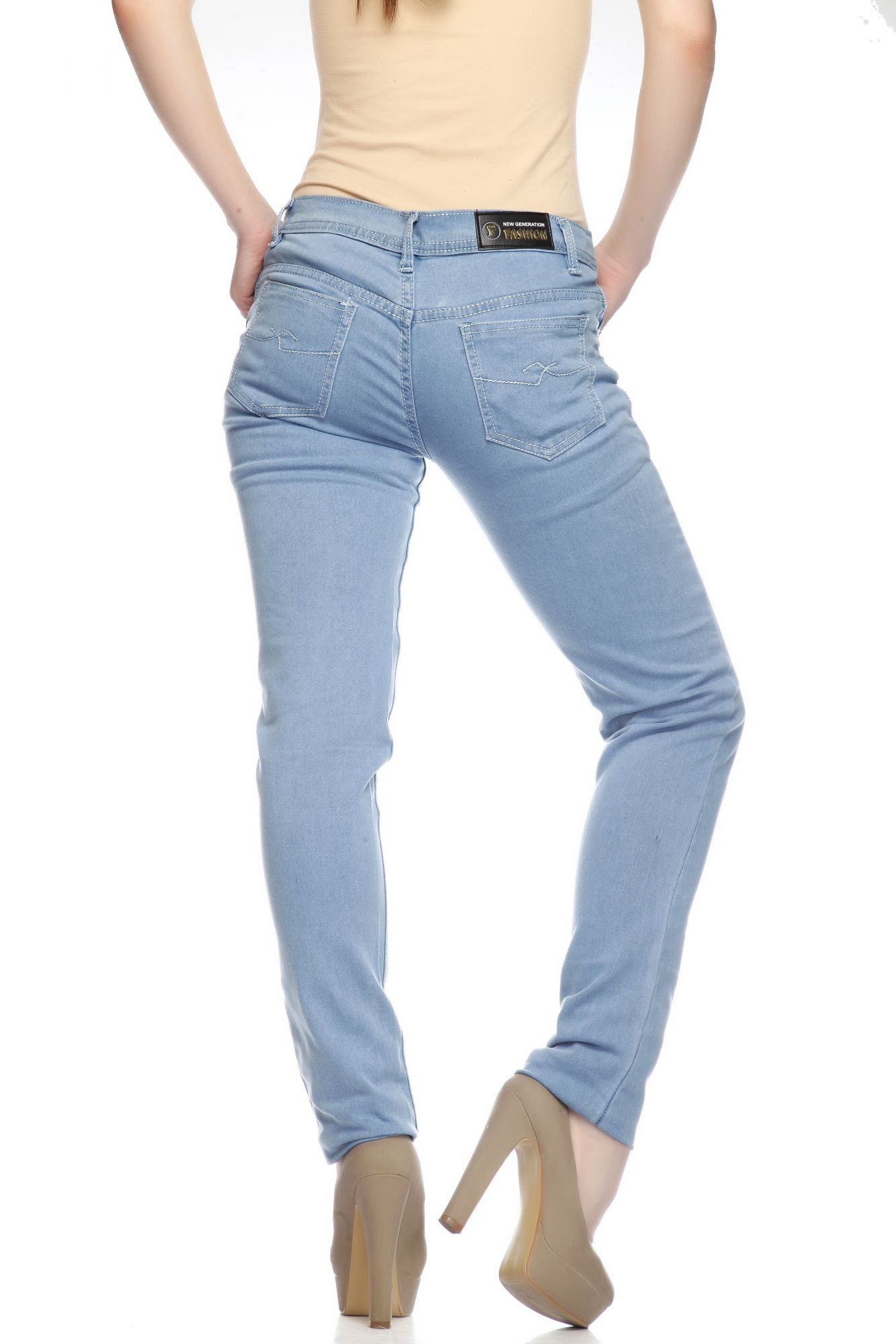 DS Light Blue Fashionable Slim Fit Jeans