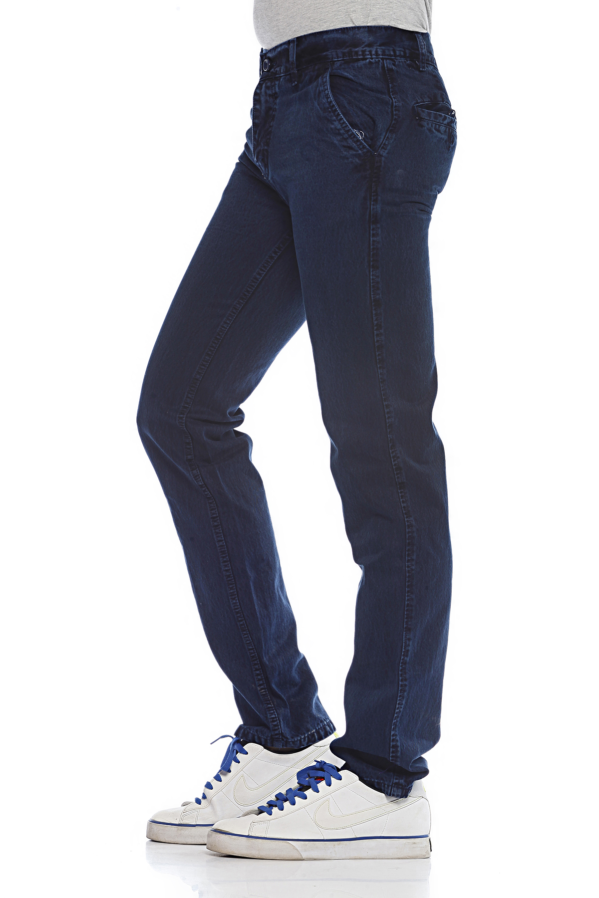 DS Blue Fashionable Straight Casual Faded Jeans