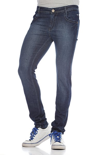DS Blue Stylish Straight Faded Jeans