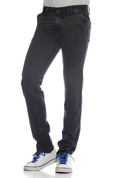DS Black cotton Fashionable Straight Jeans