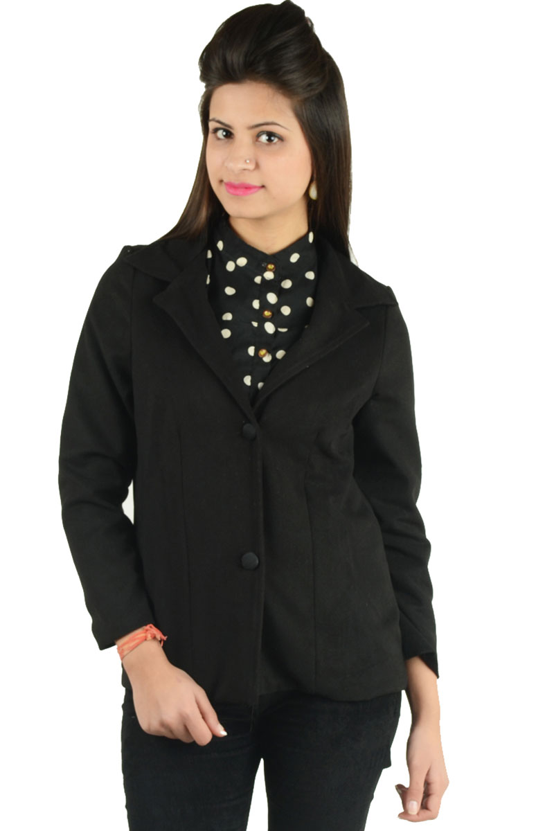 DS Black Feather Fashionable Formal Blazer