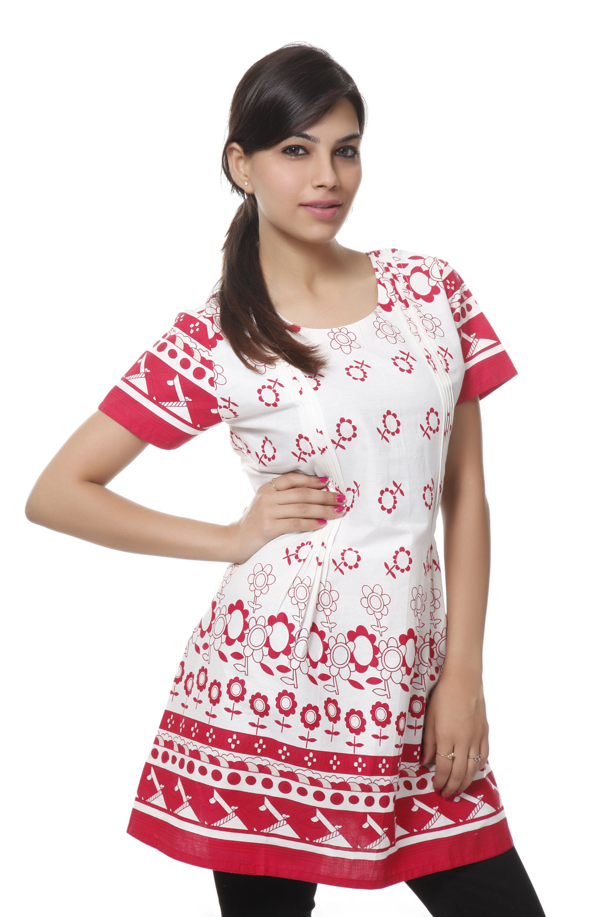 NV Pink Cotton Soft and Solid Color Attractive kurti
