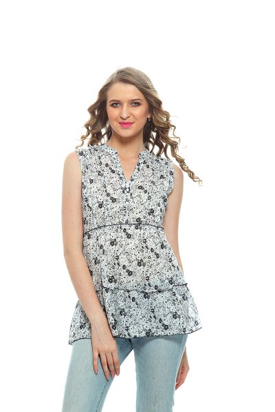 DS Grey Multicolor  Western Wear Regular Stylish Top