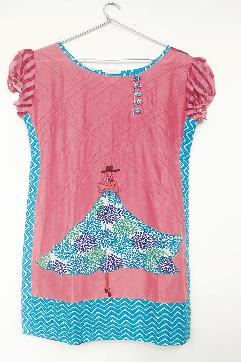 DS Pink Cotton Latest New Collection Kurti