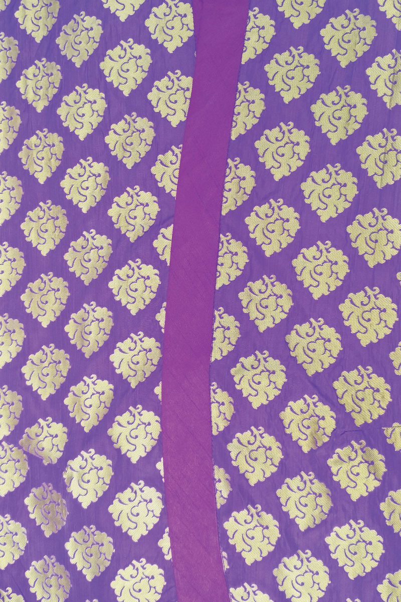 DS Purple Printed New Blazer Style Kurti