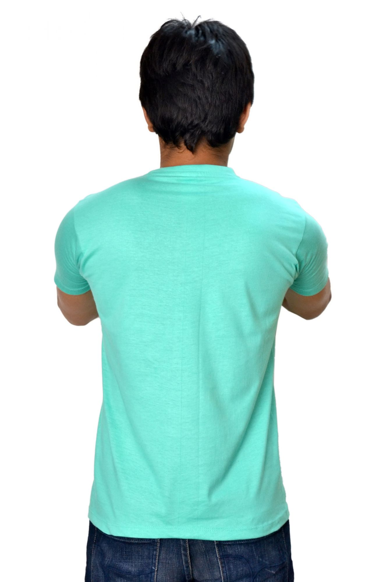 DS Turquoise Cotton Printed Stylish Casual T-shirt