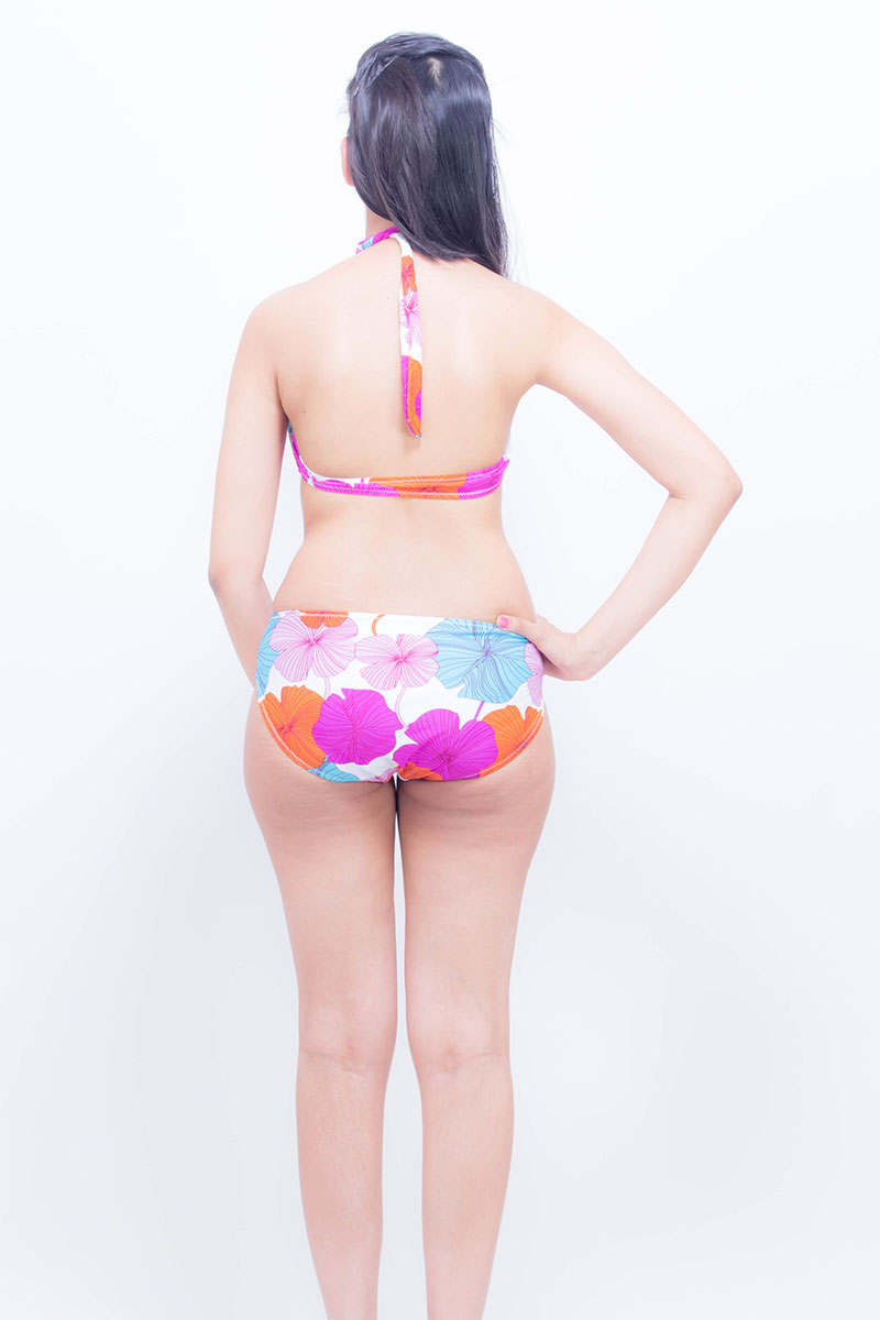 DS Multicolor Polyester Floral Print Stylish Swimwear Costume